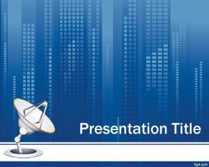 free business communication powerpoint template | technology, Modern powerpoint