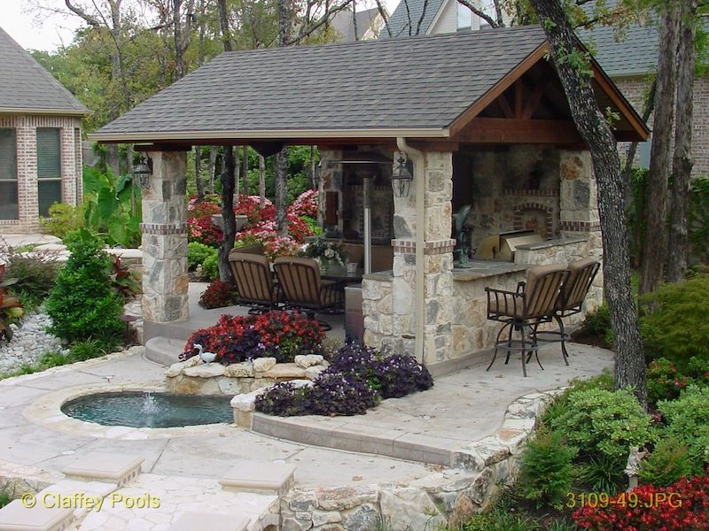 Pool house cabana design outdoor living cabanas custom for Outdoor cabana designs