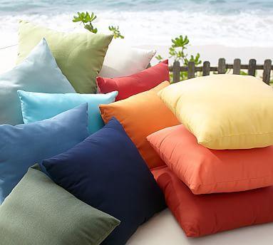 Sunbrella 0174 Solid Indoor Outdoor Pillows Indoor Outdoor Pillows Pillows Clearance Patio Furniture