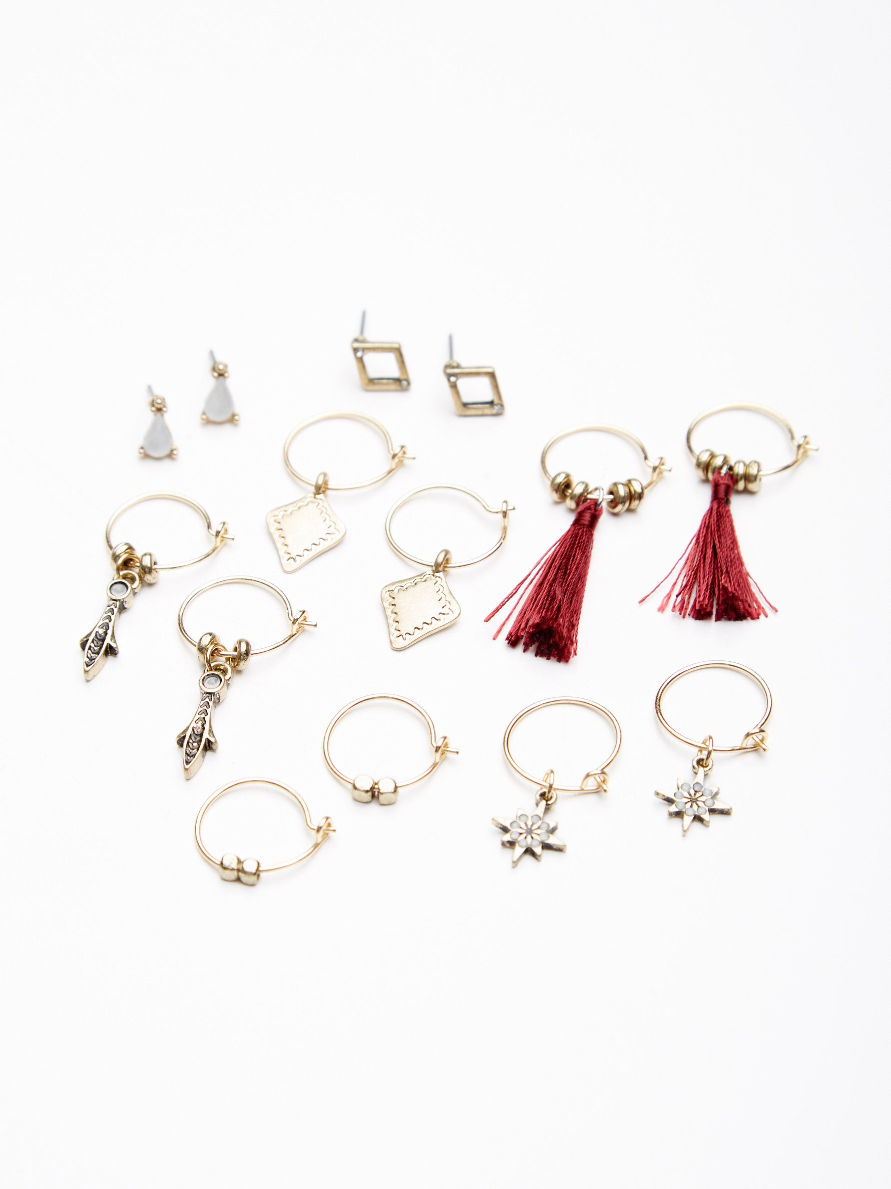 and set hoop in catching pin the chain studs earring loop featuring eye stud