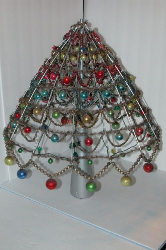 vintage christmas victorian glass bead garland ornament aluminum christmas tree ebay 350s - Aluminum Christmas Tree Ebay