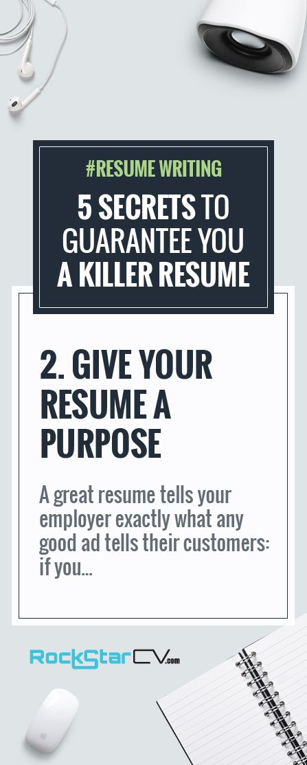 5 Secrets to Guarantee You A Killer Resume -    rockstarcv - killer resume template