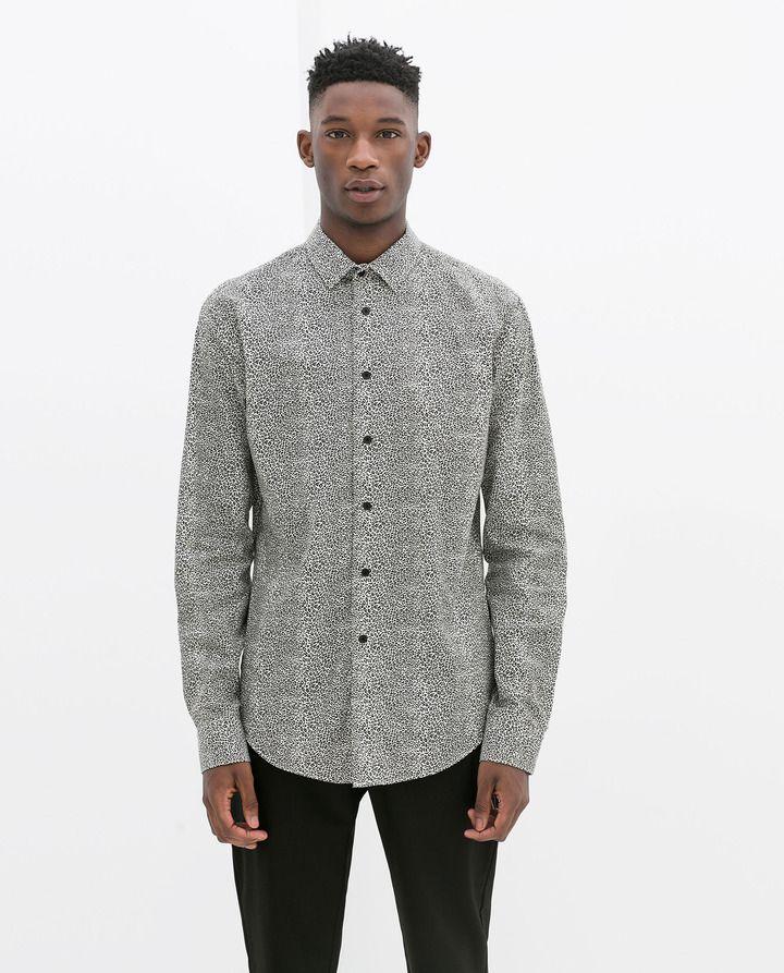 2af482bbe4c Zara Animal Print Shirt on shopstyle.com   Mens Fashions   Animal ...