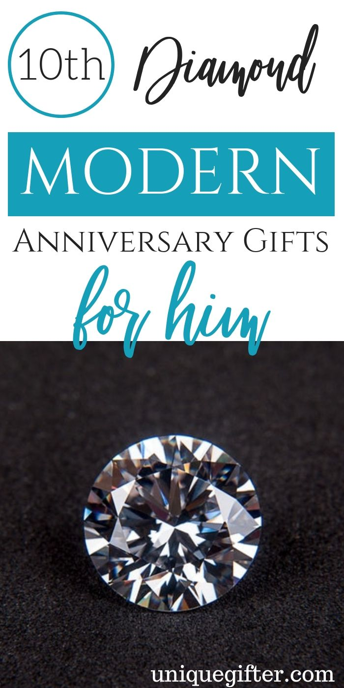 10th Diamond Modern Anniversary Gifts for Him 10 year