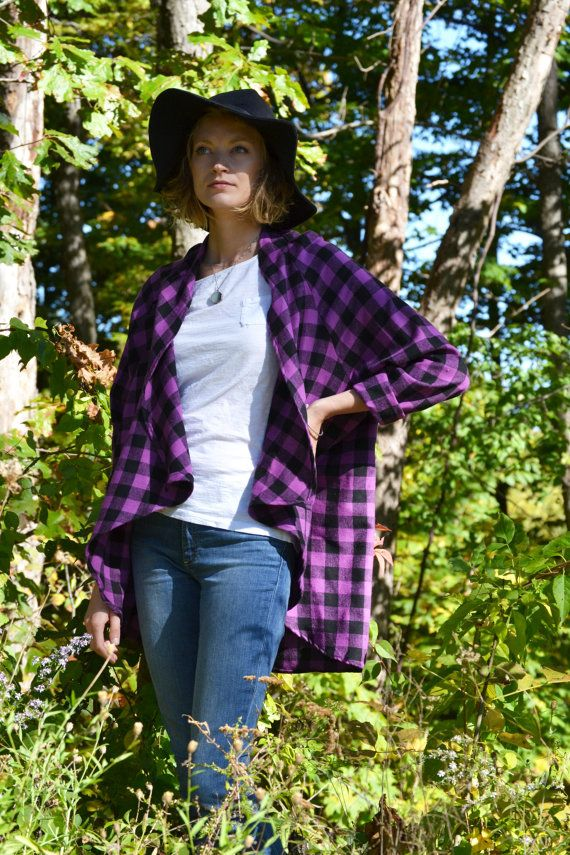 FreeBird Flannel Cardigan / Flannel Shirt / by ArtandFoundApparel