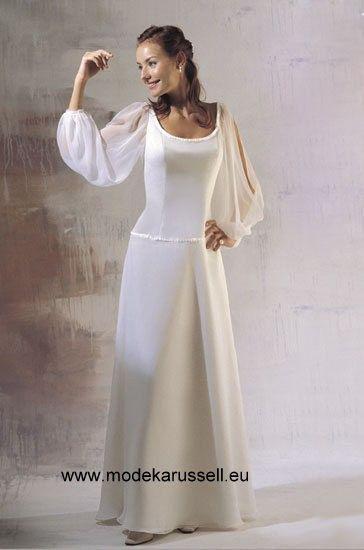 Langarm Standesamt Brautkleid