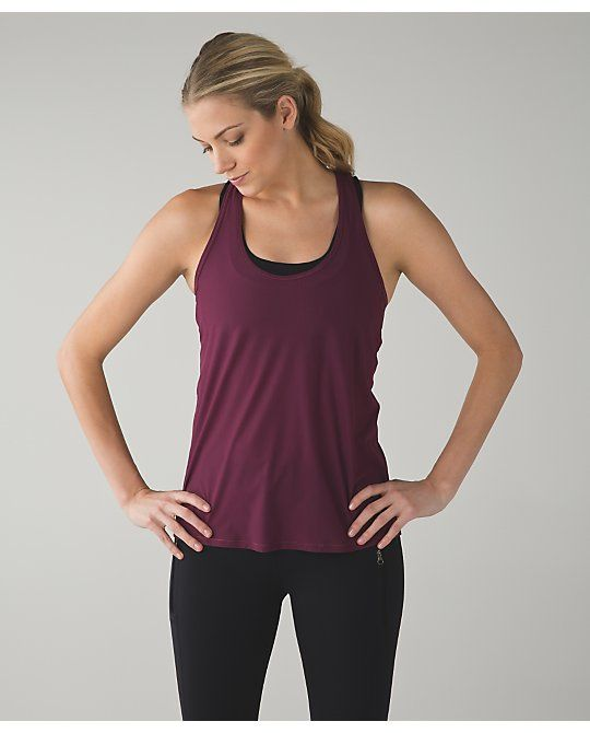 2f91bb4e1e Lululemon Tranquil Tank Red Grape | My Wardrobe: Fitness | Tank tops ...
