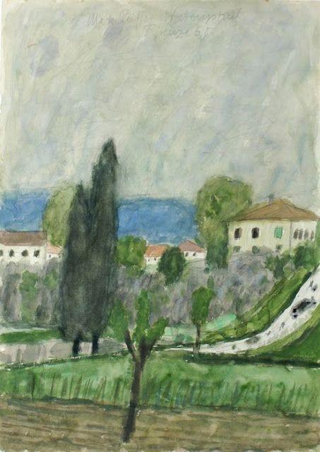 Title unknown (landscape) by German artist Max Peiffer Watenphul (1896-1976). via pink pagoda studio