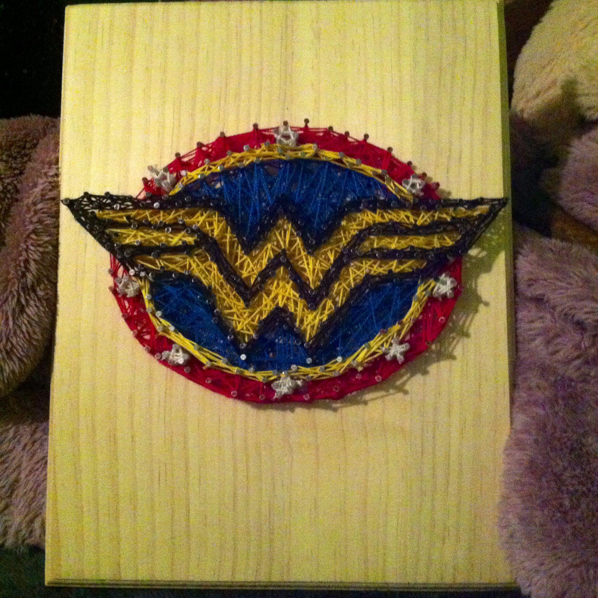 Wonder Woman string art   Superheroes<3   Pinterest   String art ...
