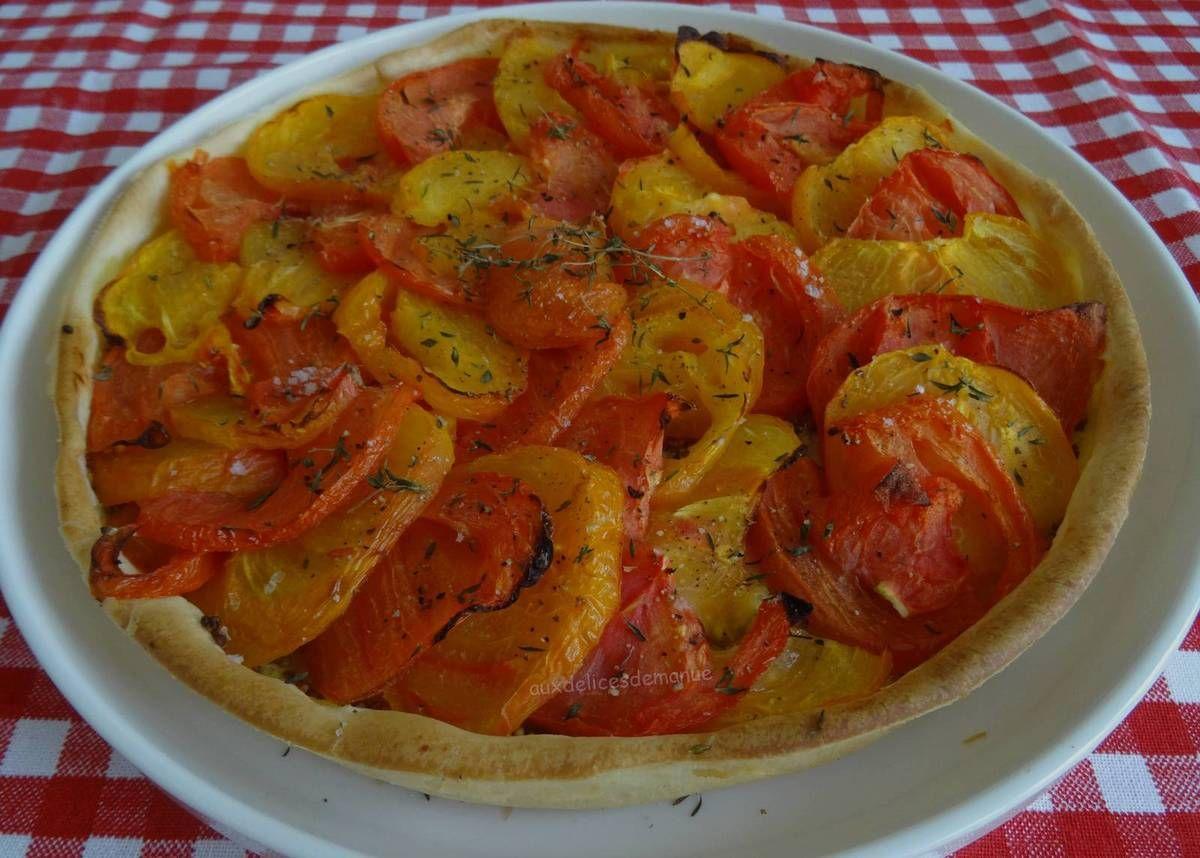 Recette de Tarte tomate et moutarde | Tarte tomate ...