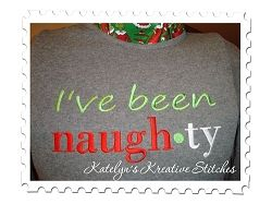 I've Been Naughty - 4 Sizes!   Christmas   Machine Embroidery Designs   SWAKembroidery.com Katelyn's Kreative Stitches