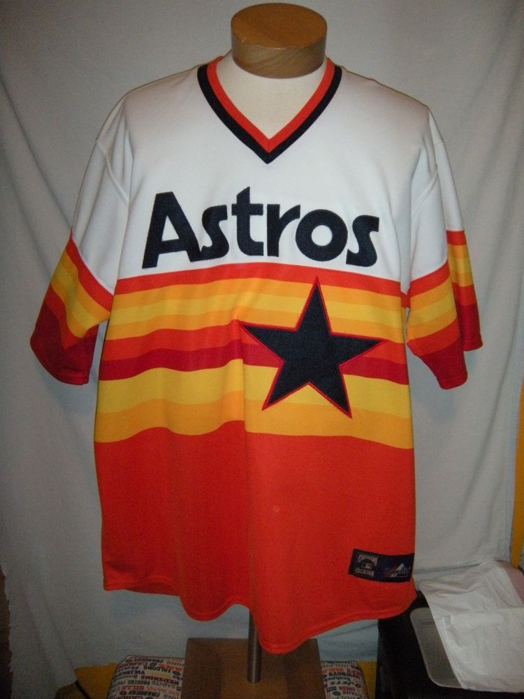 newest 9369f 2fc58 HOUSTON ASTROS COOPERTOWNS COLLECTIONS VINTAGE ASTROS JERSEY ...
