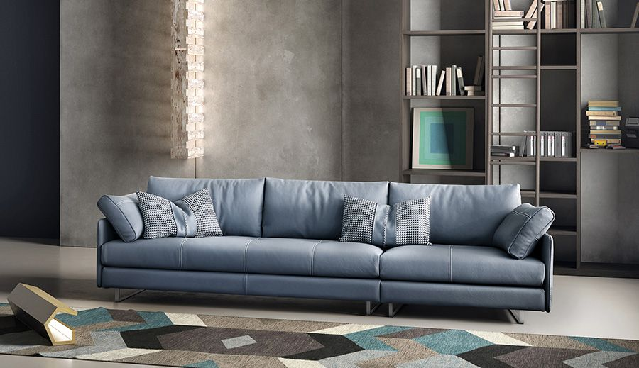 Swing Is A Modern Sectional Leather Sofa By Italian Furniture Brand Gamma Thi White Furniture Living Room Large Living Room Furniture Italian Furniture Brands