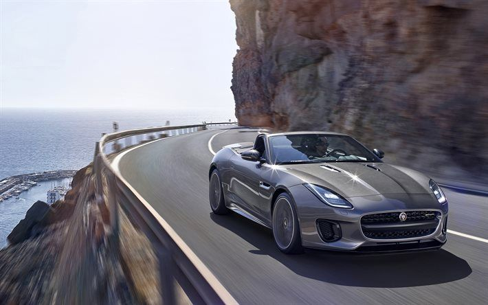 Download Wallpapers Jaguar F Type 2018 Sports Coupe New F Type