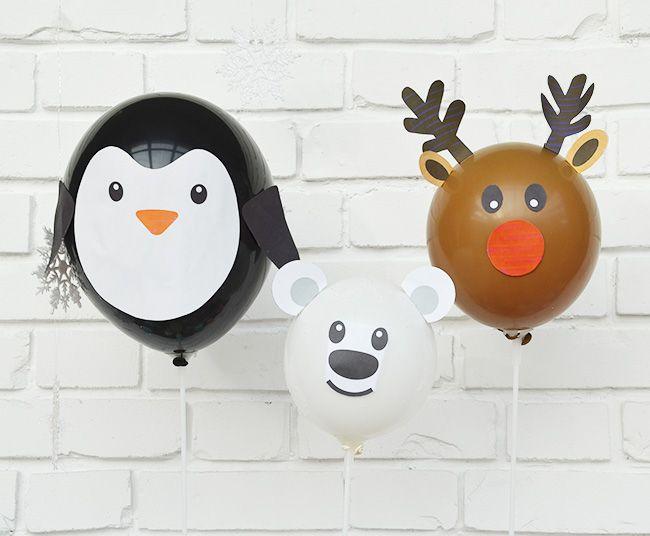 Rentier Pinguin Und Eisbär Luftballons Selber Basteln