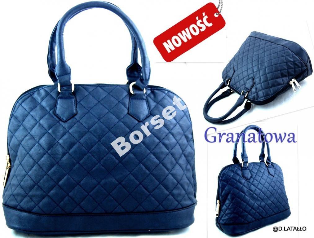 Torebka Damska Pikowana Chanelka Kuferek Granat S6 4706792085 Oficjalne Archiwum Allegro Shoulder Bag Bags Items