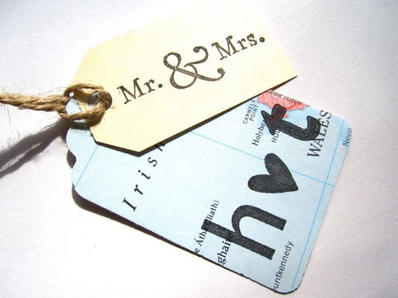 Mr and Mrs Tag Initials Tag Wedding Tags Custom by MagpieandMax, $24.00