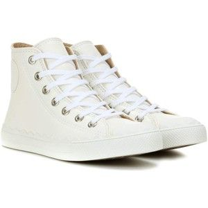 Chloé High-Top Leather Sneakers