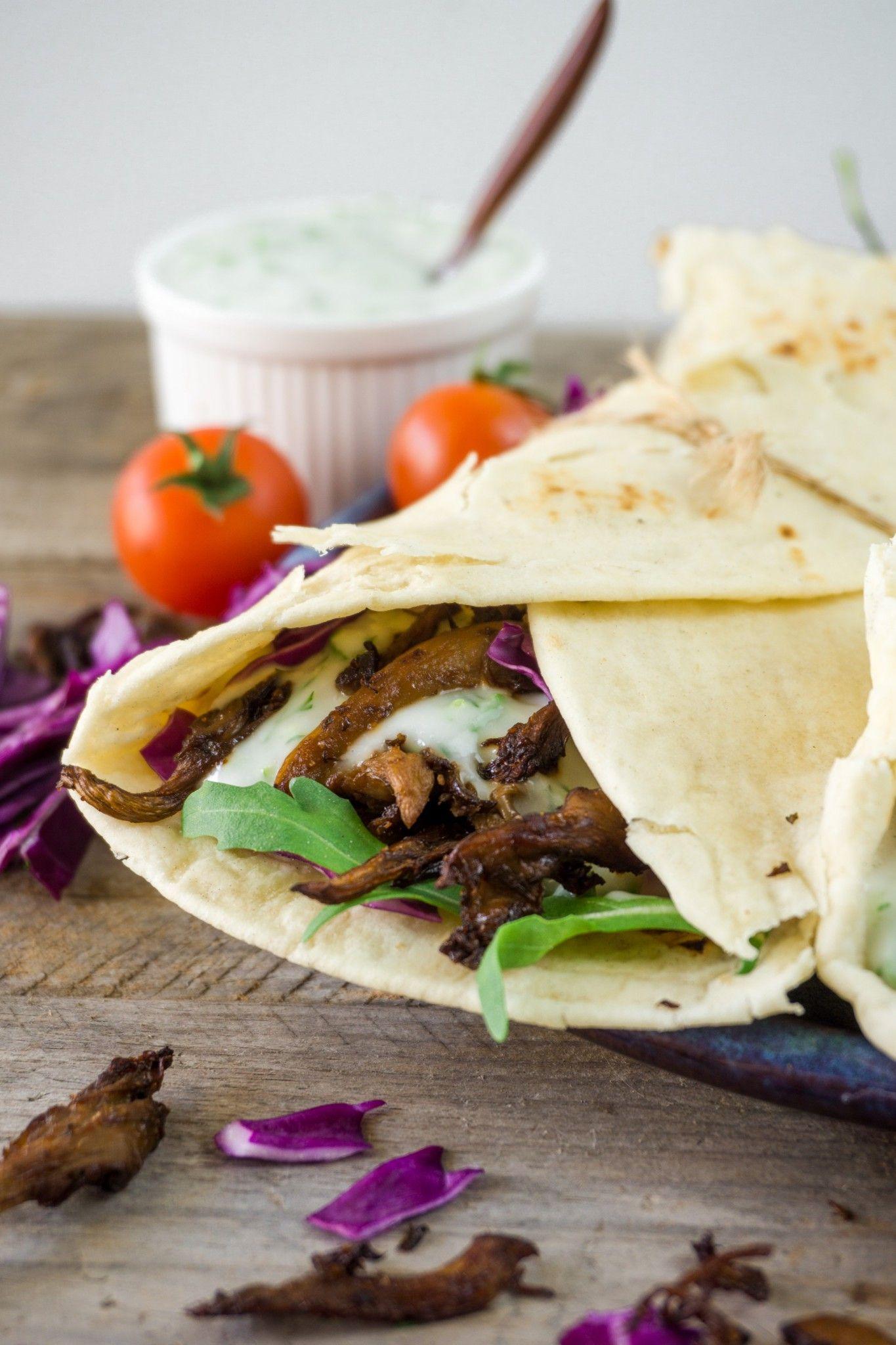 Vegan Mushroom Shawarma