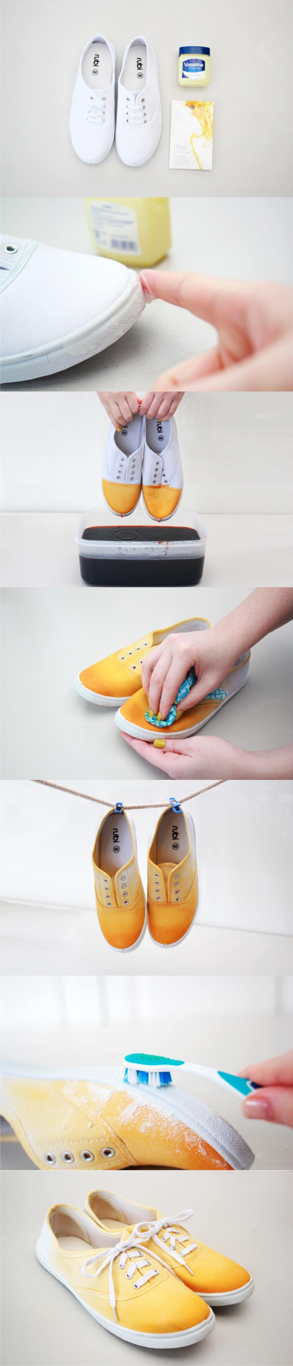 personaliza tus zapatillas con un degradado de color chaussure modifi pinterest. Black Bedroom Furniture Sets. Home Design Ideas