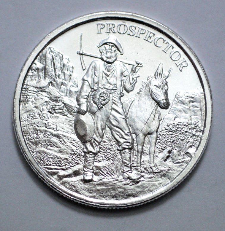 Superb New Coin Prospector 1 Oz 999 Fine Silver Round 1 Ounce Shopnetone Silver Rounds Fine Silver Silver