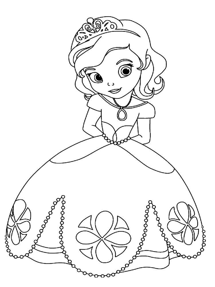 Dibujos para colorear - la Princesa Sofa. | Para colorear ...