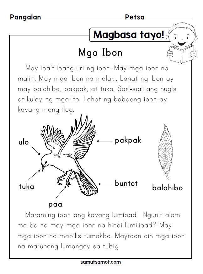 Magbasa Tayo! Mga Ibon Filipino, Worksheets