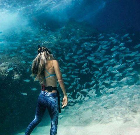 80402e9942bd6d Mermaid leggings, snake skin leggings. Underwater mermaid. Snorkelling in  My Mantra Active leggings. Find this active & free spirited outfit at ...