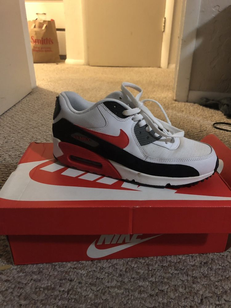 990faec8676 New NIKE Air Max 90 Essential Mens white black red  fashion  clothing  shoes   accessories  mensshoes  athleticshoes (ebay link)