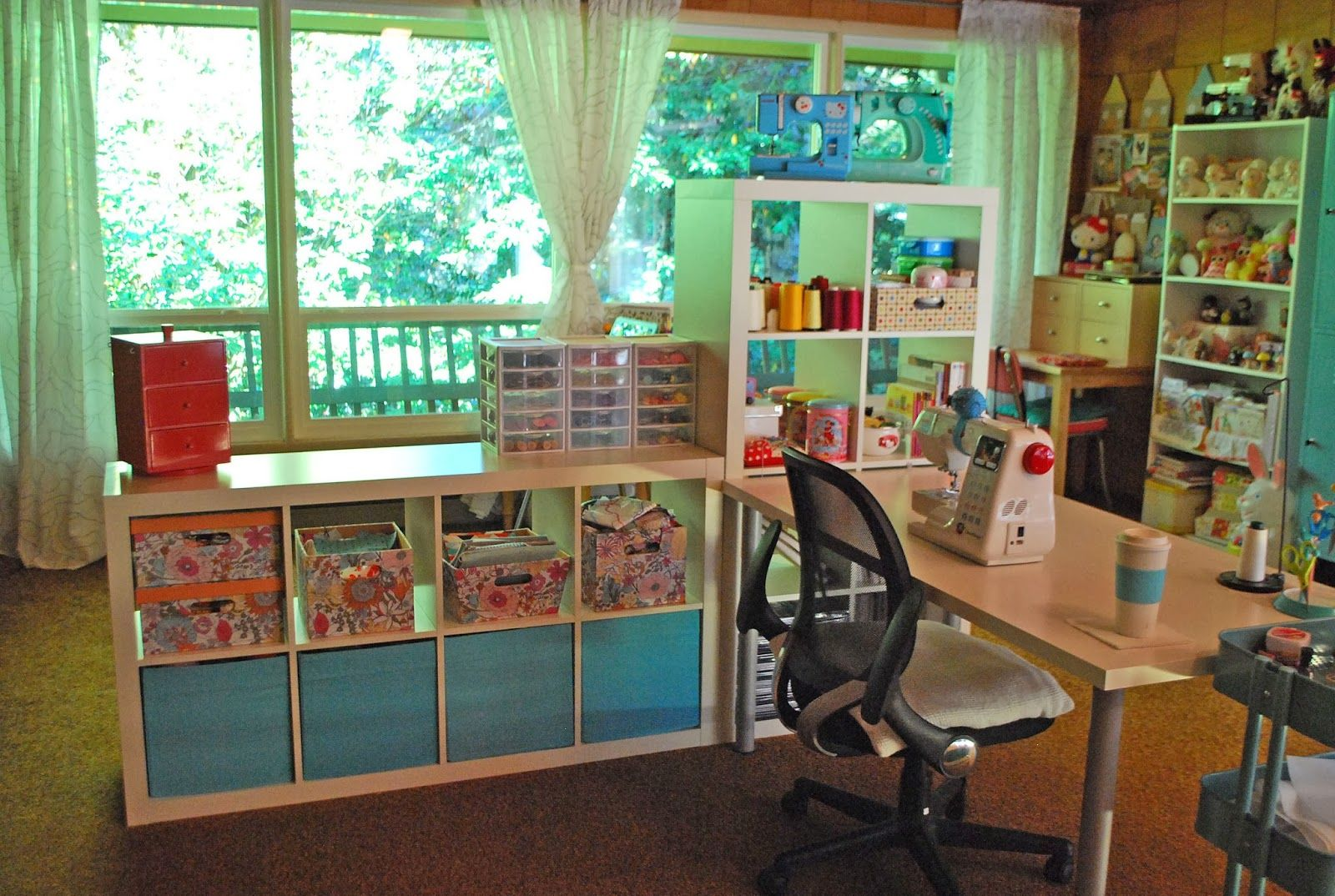 Interior astounding sewing room design ideas with Sewing room designs