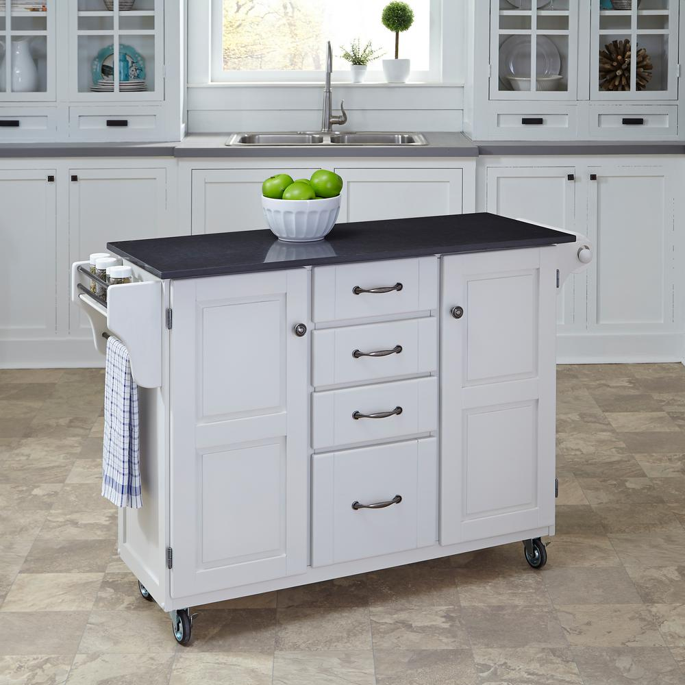 Black And White Kitchen Trolley
