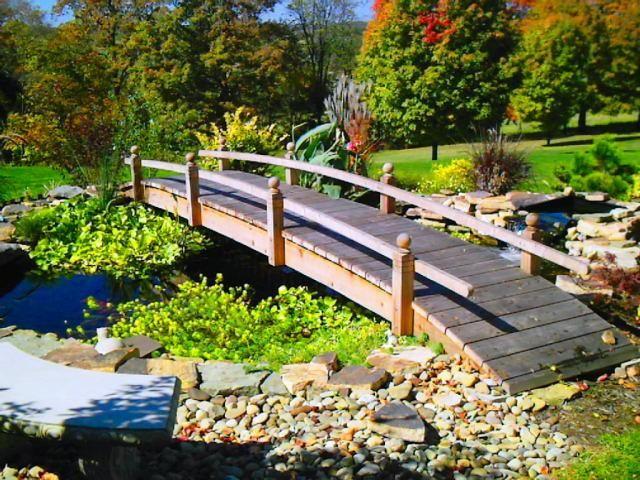 Beautiful Landscape Bridges And Koi Pond Bridges Custom Built Redwood And  Cedar Garden Bridges For Water