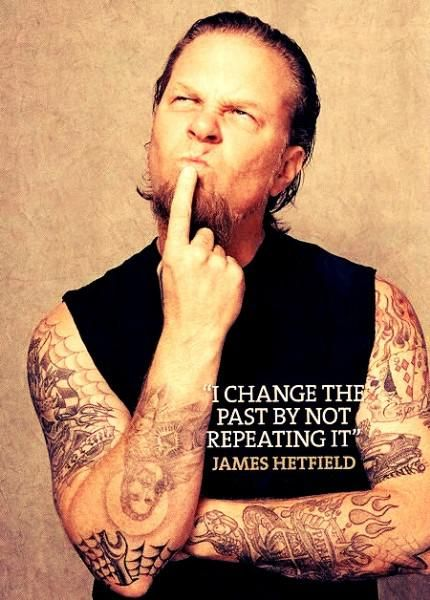 Metallica James Hetfield arm tattoos