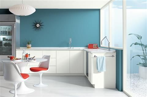 Look At The Paint Color Combination I Created With Benjamin Moore Via Wall Azurite Cw 670 Trim Oxford White 869 Ceiling