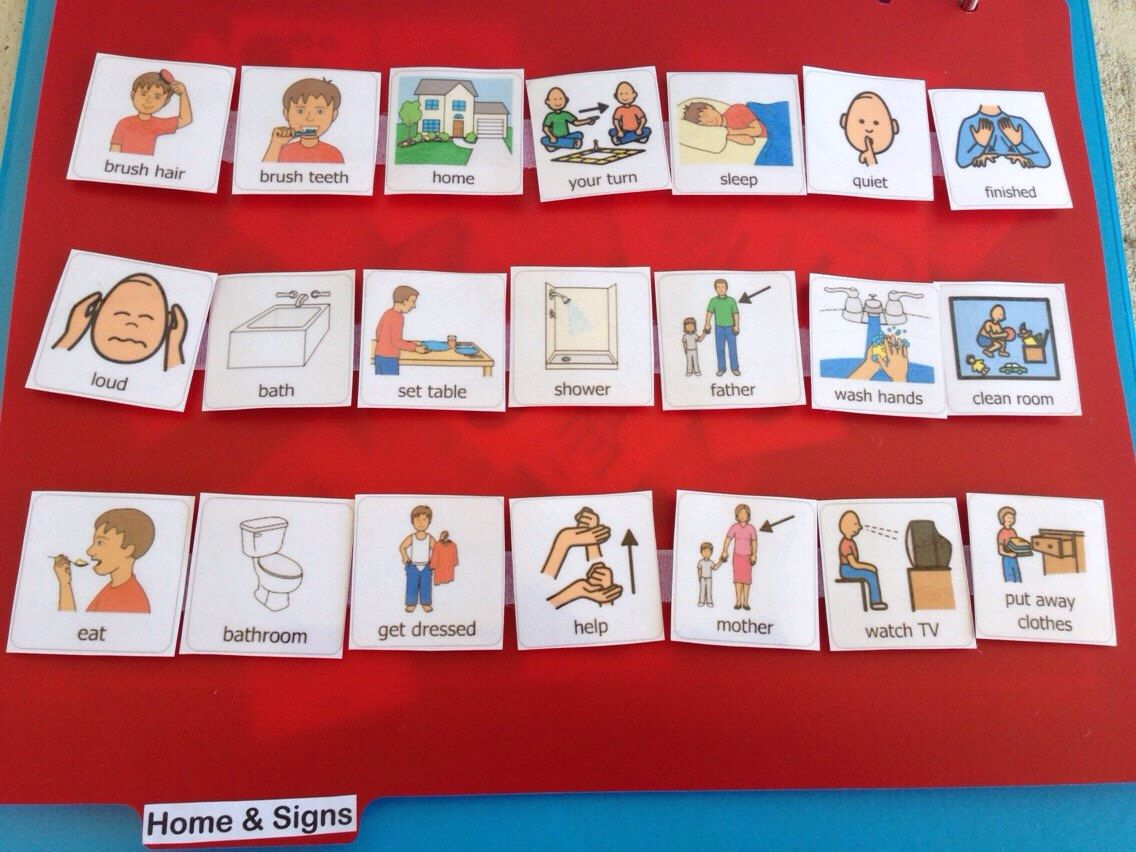 Visual Picture Schedule Communication Book For Children