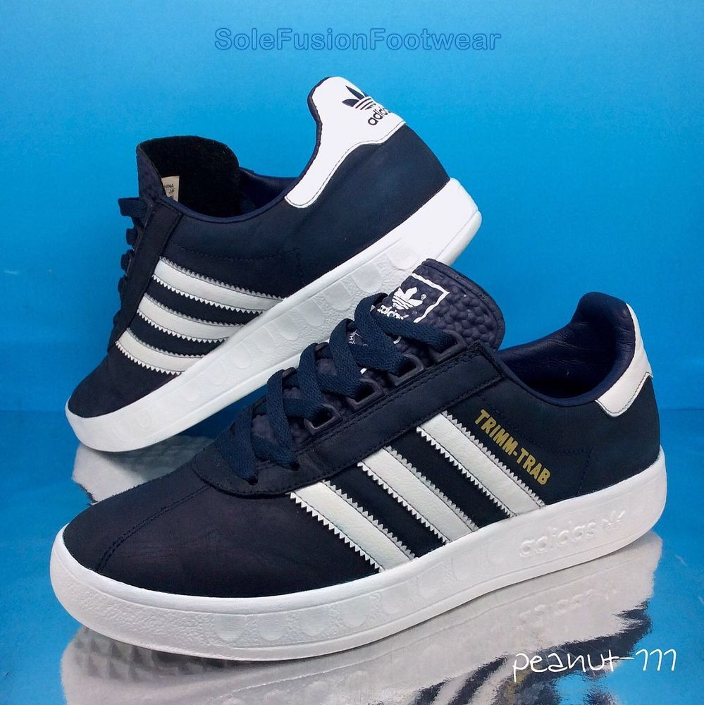 sports shoes 030ce 3d9fc adidas Mens Trimm Trab Trainers BlueWhite sz 7 VTG Munchen Sneaker US 7.5  40.6 in Clothes, Shoes  Accessories, Mens Shoes, Trainers  eBay