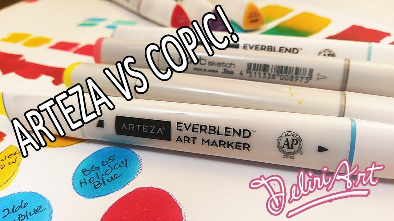 Not Sponsored Arteza Vs Copic In Depth Arteza Everblend Alcohol