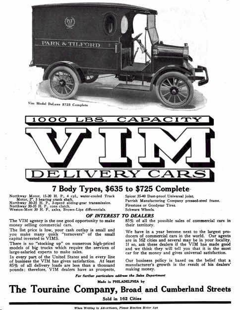 1915 VIM Delivery Wagon