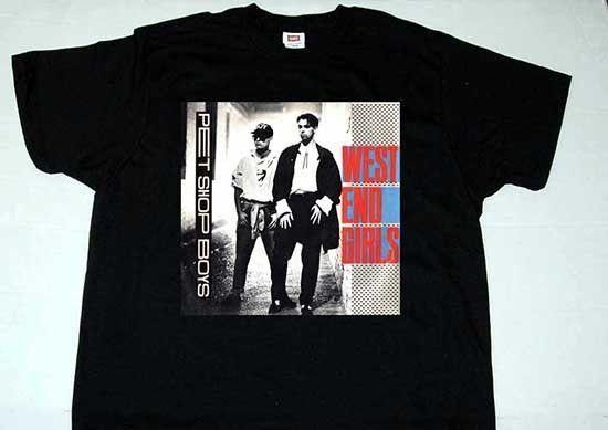 PET SHOP BOYS west end girls T Shirt ( Men S 3XL)
