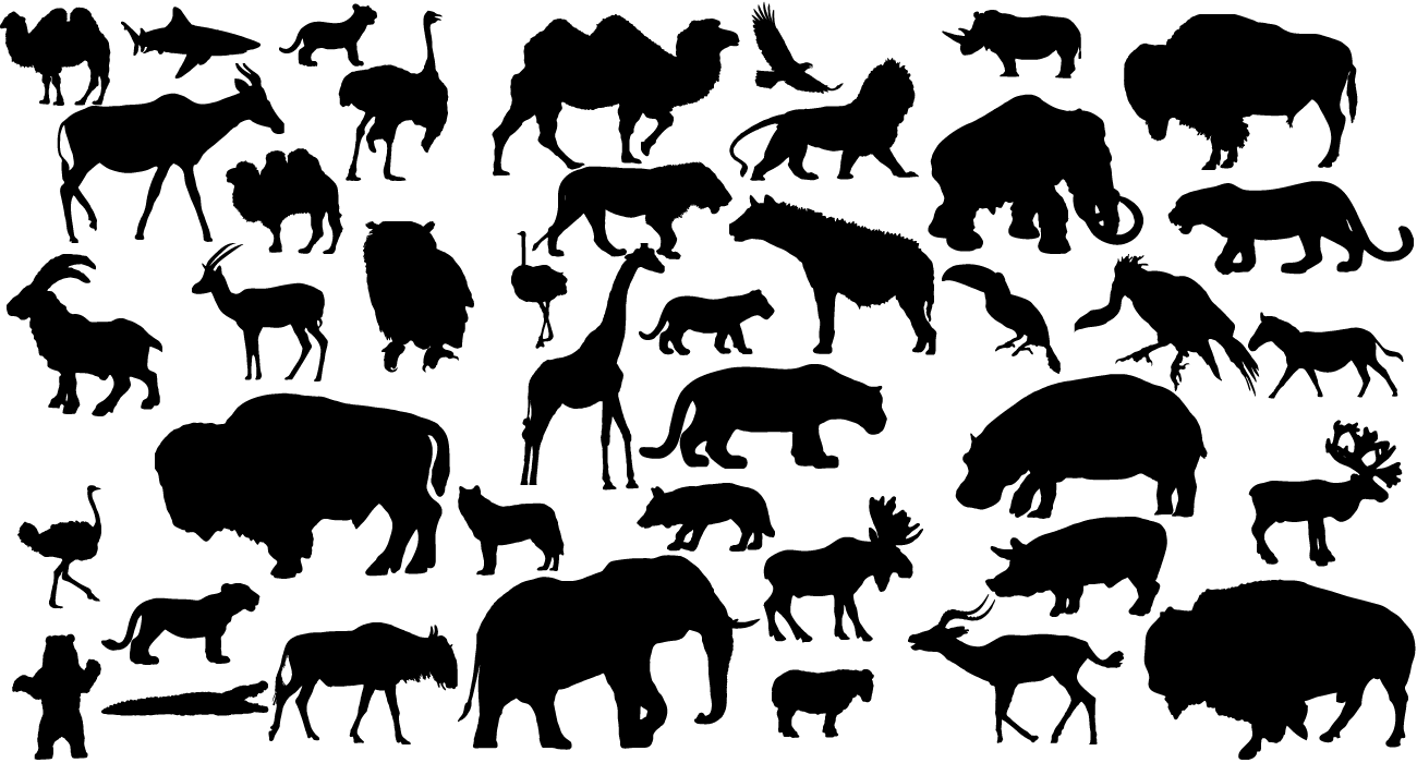 Free Animal Silhouettes Download Free Clip Art Free Clip Art On Clipart Library Animal Silhouette Free Vector Art Silhouette Art