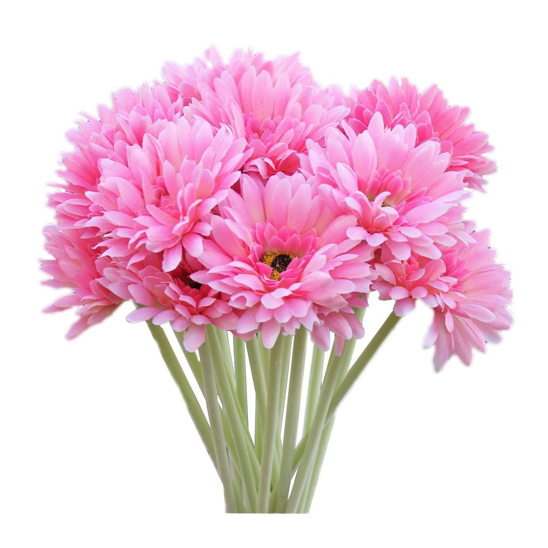 Visit To Buy 10 Pcs Artificial Silk Gerbera Daisy Flower Wedding Party Home Bridal Bouquet Reception Centerpieces Diy Silk Flower Arrangements Gerbera Daisy