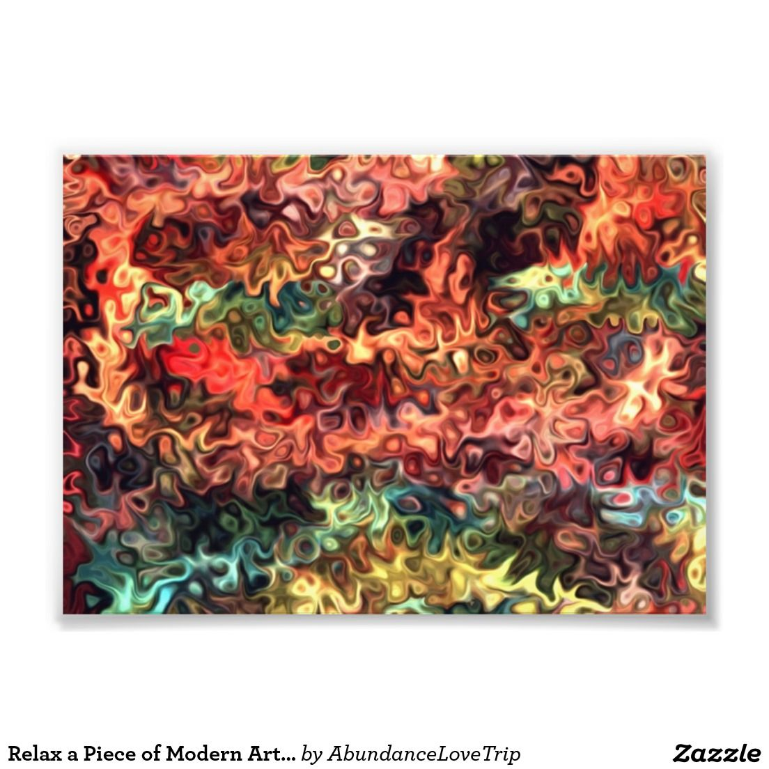 Relax a Piece of Modern Art 5.55 Photo Art under $10 mini art print