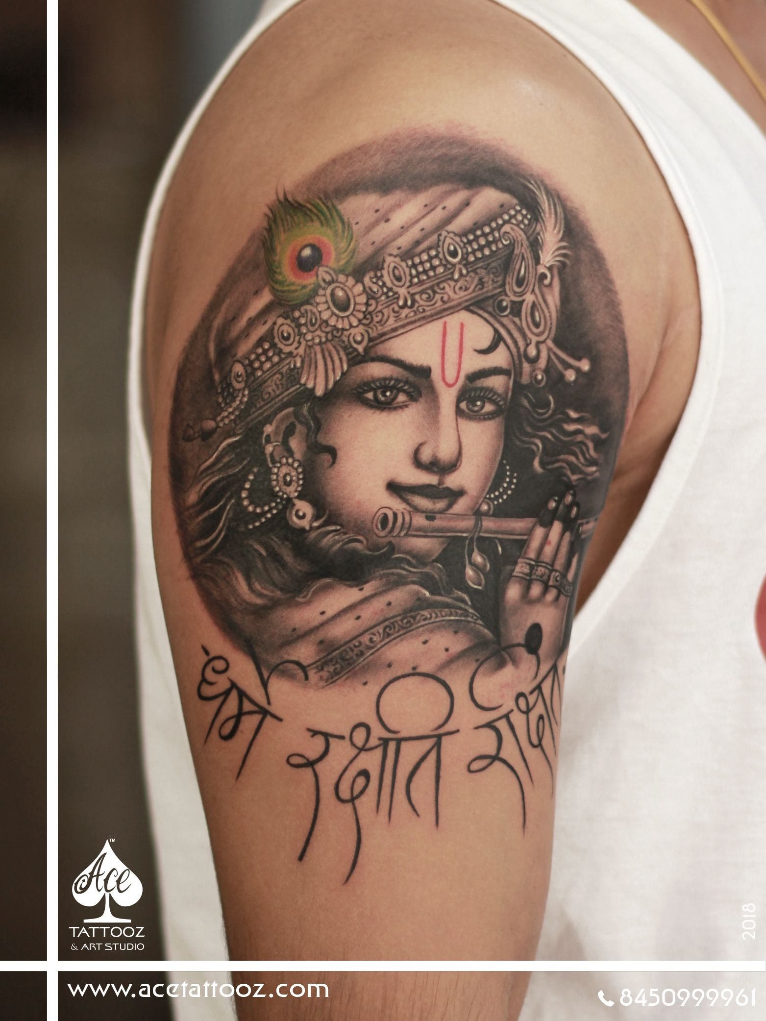 Lord Krishna Tattoo Designs Ace Tattooz Art Studio Mumbai India Krishna Tattoo Tattoos For Guys King Tattoos