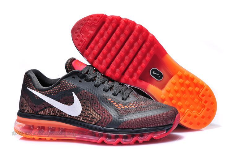 Nike Air Max 2014 Sale Mens Anthracite-White-Team Red-Total Orange Shoes