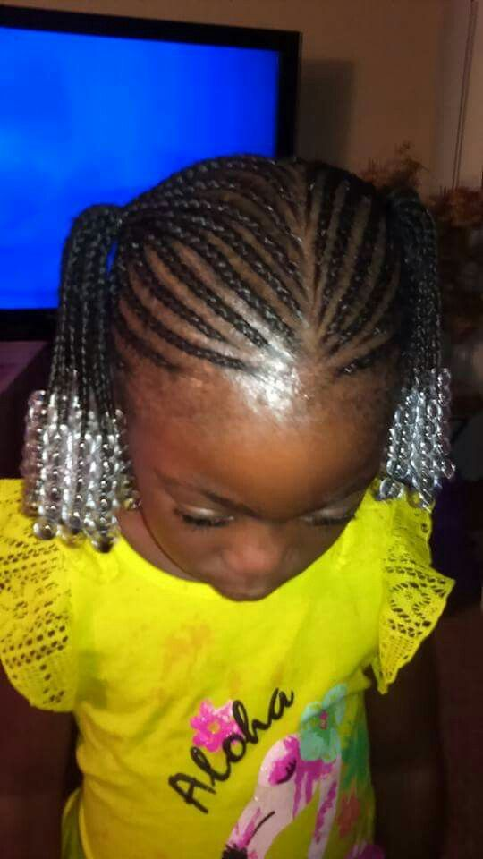Cornrows Pigtails Front view | Kids hairstyles, Cute hairstyles
