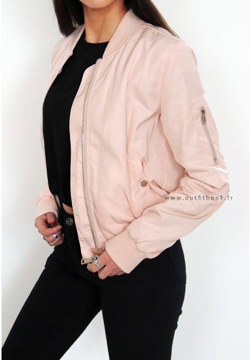 Bomber rose pâle - outfit book   Fashion   Pinterest   Veste ... f109a5fa3773