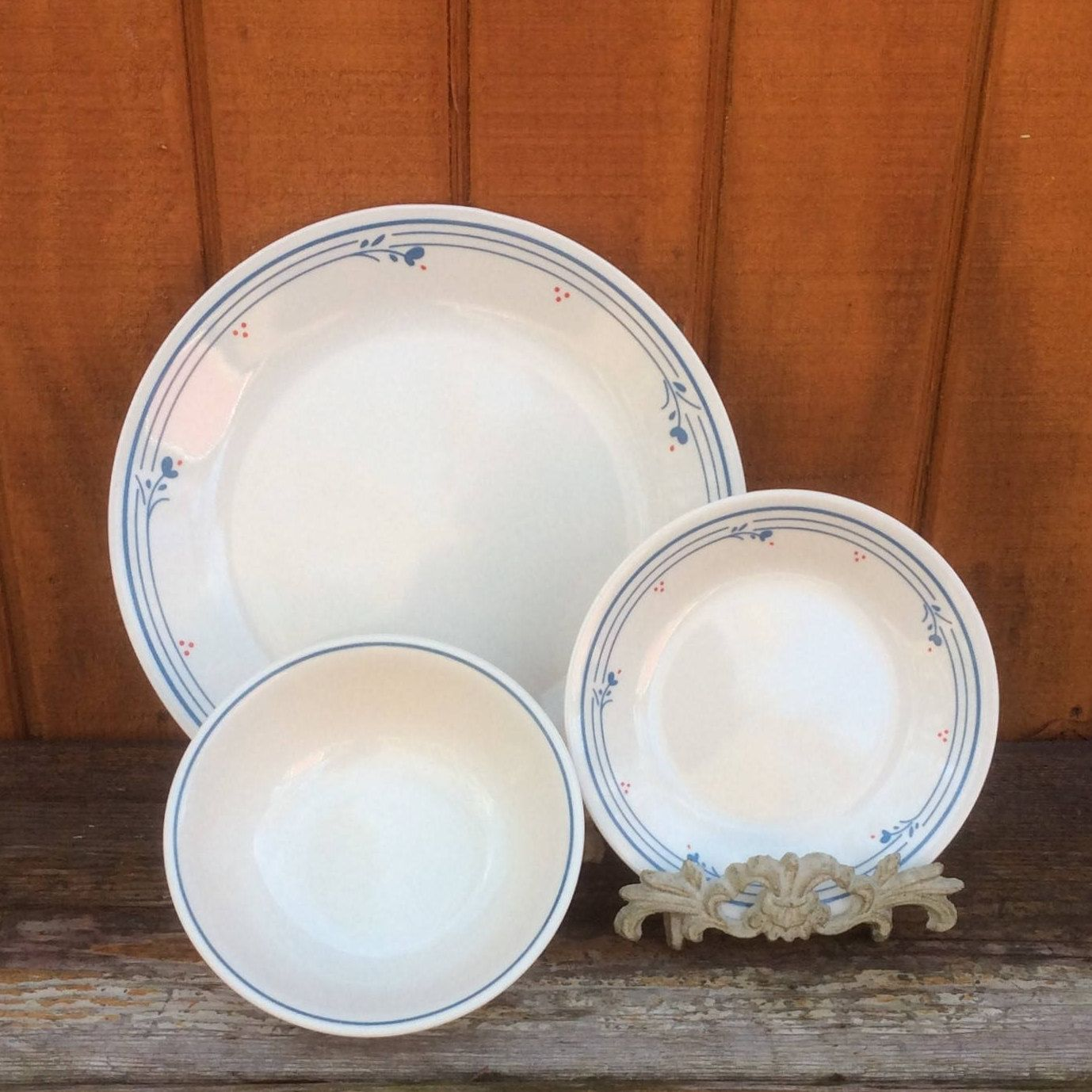 Country Violets Dishes | Corelle PYREX Corning | Dinner Plates Cereal Bowls u0026 Bread and & Country Violets Dishes | Corelle PYREX Corning | Dinner Plates ...