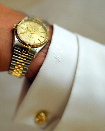 monogrammed cuffs