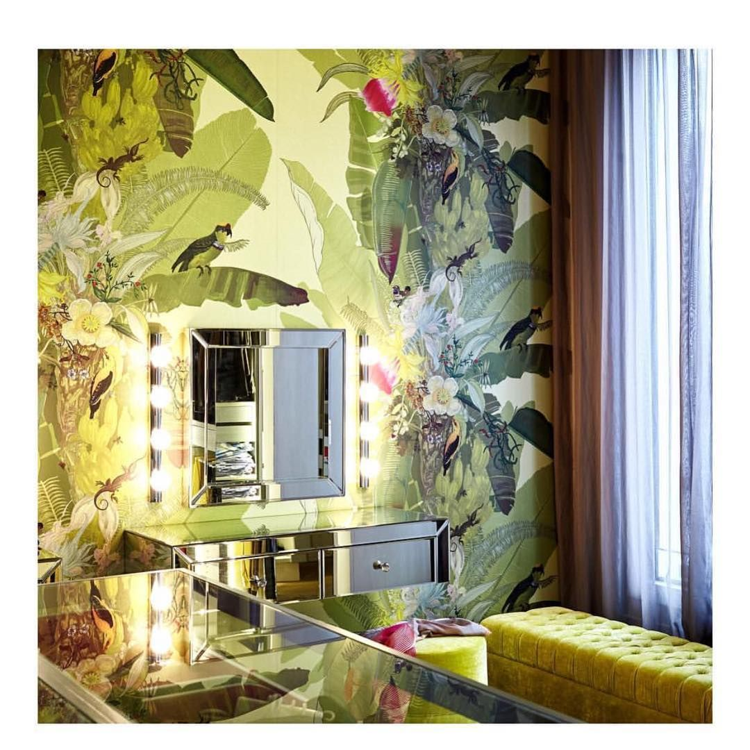 Not a bad backdrop for this dressing table! TB Merian Palm Superwide ...