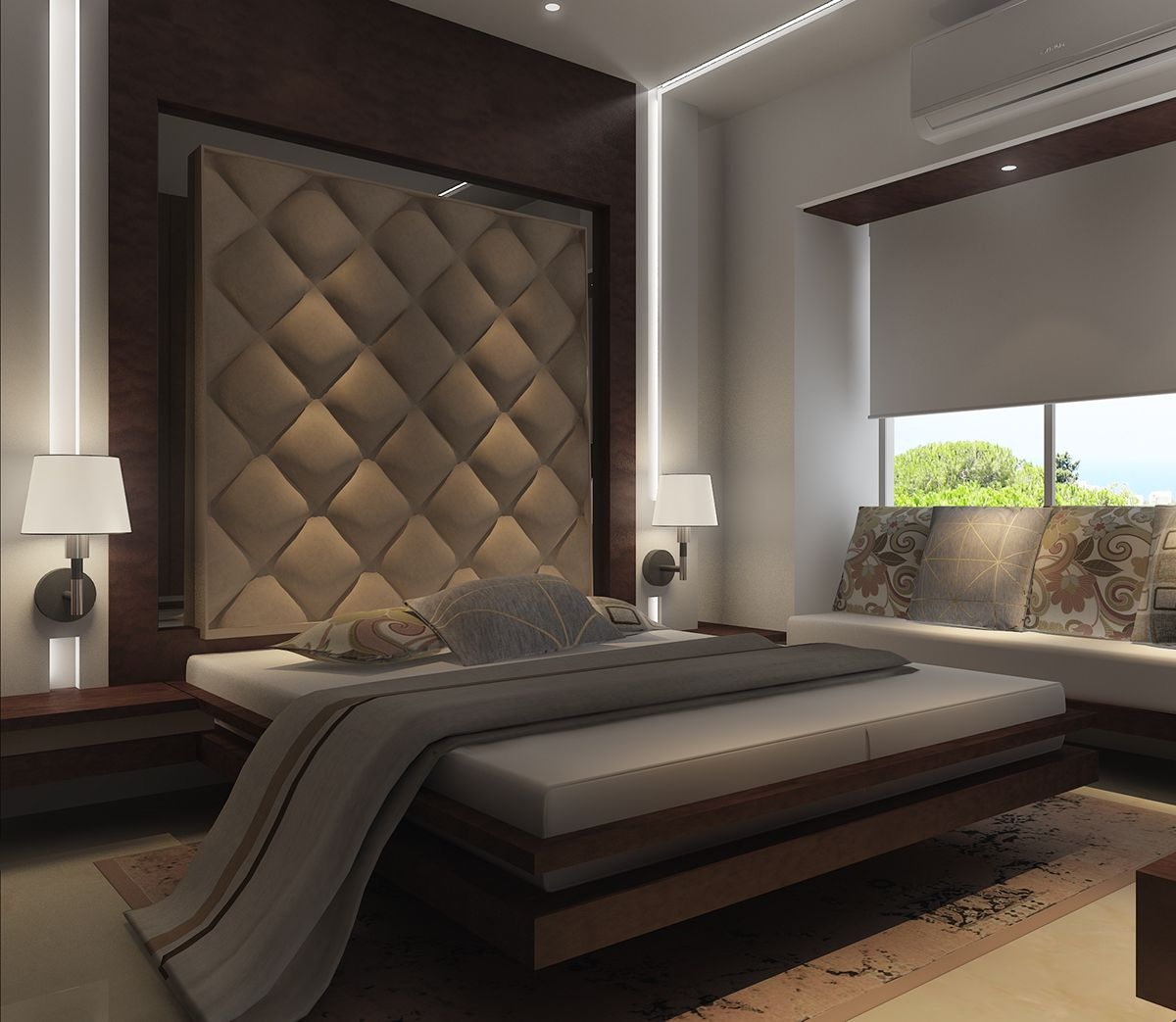 Modern Bedroom Interior Design: Residential 1 BHK On Behance